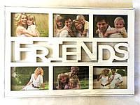 Фоторамка на 6 фото Friends , белый