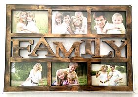 Фоторамка на 6 фото Family , бронза (2306FA)