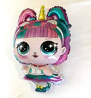 Шар фольгированный Куколка Лол Единорог