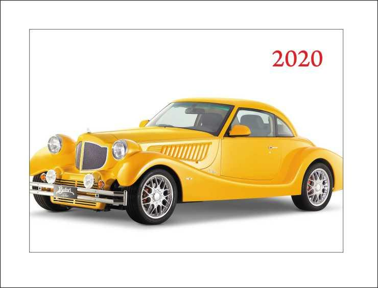 Карманный календарь с ретро автомобилем