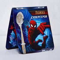 """Ложечка детская с изображением Человека паука """"Супергерой"""""""