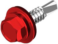 Винт 5,5х25 (500 шт) RAL3011 д/мет кор-черв.