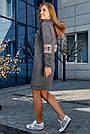 Платье женское спортивное, р. от 44 до 50, серое с люрексом, повседневное, молодёжное, городское, фото 5