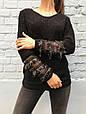 Свитер женский с бахромой из пайеток (черный), фото 6