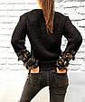 Свитер женский с бахромой из пайеток (черный), фото 4