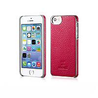 Накладка Xoomz для iPhone 5 /5S Litchi Pattern Leather Electroplating Rose