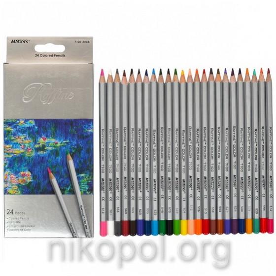 Набор цветных карандашей MARCO Raffine 7100-24CB, 24 цвета