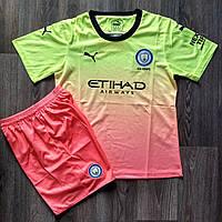 Детская футбольная форма Манчестер Сити/Manchester City ( Англия, Премьер Лига ), резервная, сезон 2019-2020, фото 1