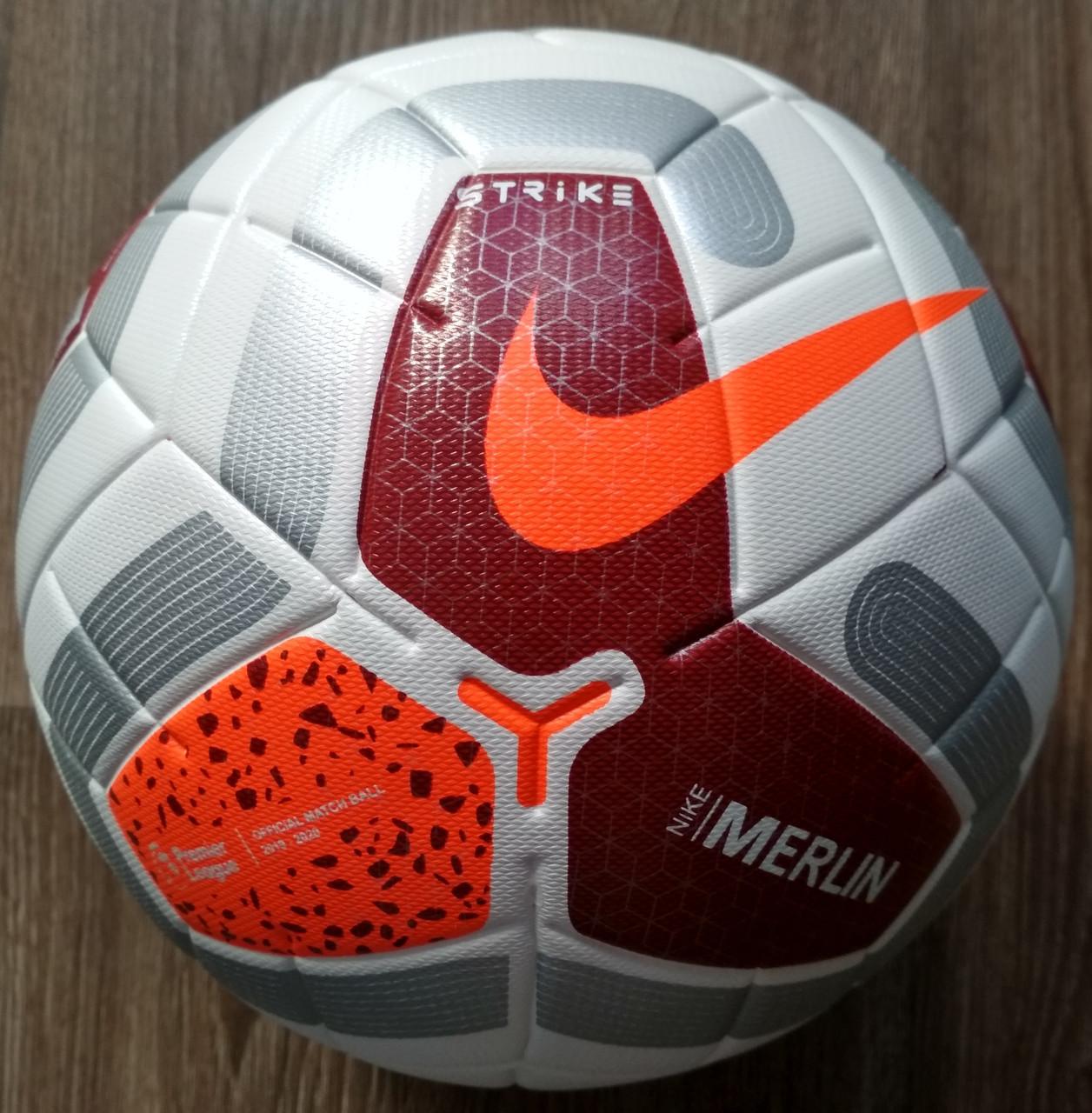 Мяч футбольный (бело-красный) Premier League сезон 2019-2020