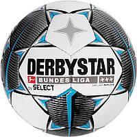 Мяч футбольный derbystar fb bl brillant (147), бел/черн/сер р.5