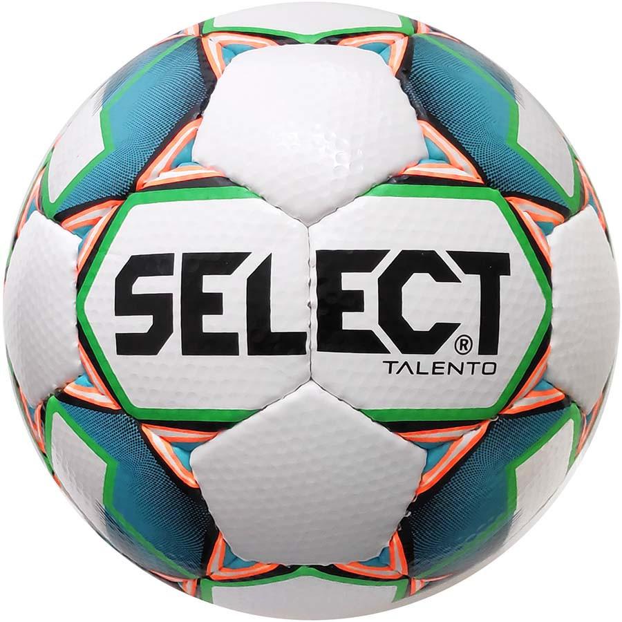 Мяч футбольный select talento (306) бел/зел, размер 3