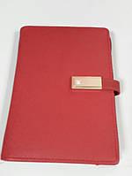 Блокнот ежедневник А6 с POWER BANK VIP подарок красный Amazing