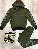 Мужской спортивный костюм в стиле Off White милитари, фото 1