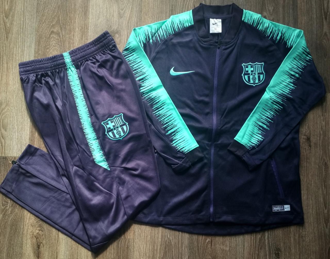 Детский спортивный костюм Барселона/Barcelona ( Испания, Примера ), фиолетовый, сезон 2019-2020