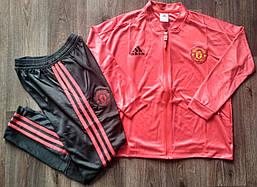 Детский спортивный костюм Манчестер Юнайтед/Manchester Unite (Англия, Премьер Лига ), красный, сезон 2019-2020