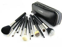 Набор кистей для макияжа MAC 12 штук в кошельке