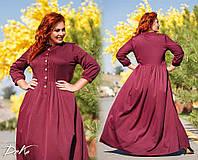 Женское шикарное платье в пол  ДГс527 (норма / бат), фото 1