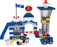 Детский блочный пластиковый конструктор «Полицейский участок»
