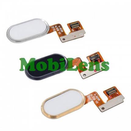 Meizu M3 Note, версия L681H, L91H Шлейф с золотистой кнопкой HOME, фото 2