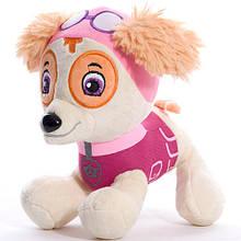 Мягкая игрушка собачка щенячий патруль: Скай