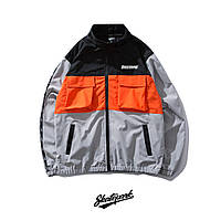Куртка, ветровка Skatepark Grey/Orange/Black унисекс