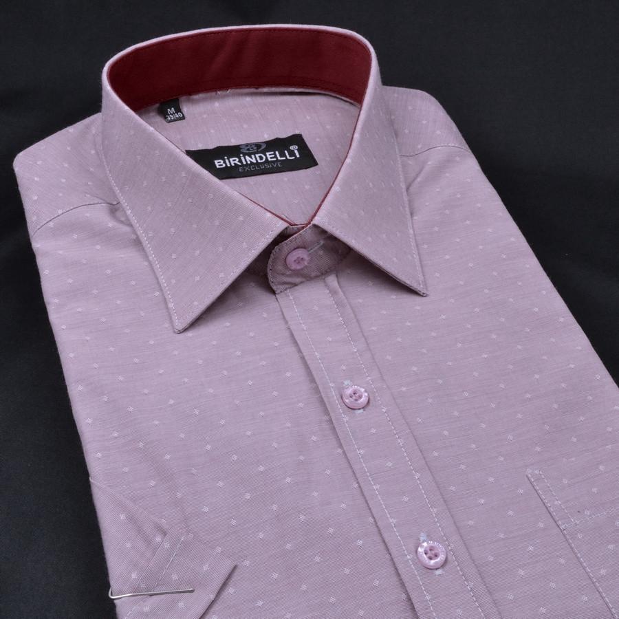 Сорочка чоловіча, прямого покрою, з коротким рукавом Birindelli 03-150 80% бавовна 20% поліестер L(Р)