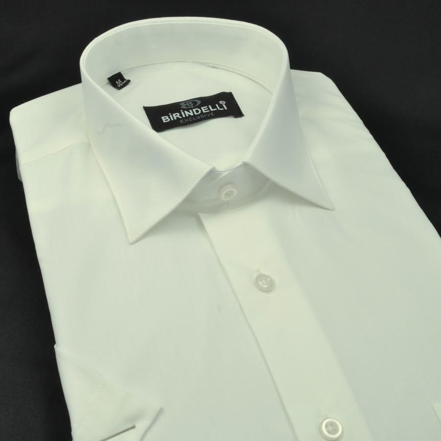 Сорочка чоловіча, прямого покрою, з коротким рукавом Birindelli 014000146 80% бавовна 20% поліестер M(Р)