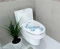 Наклейка на унитаз - вода