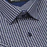Сорочка чоловіча, приталена (Slim Fit), з коротким рукавом Birindelli в клітинку 014000152 80% бавовна 20%, фото 2