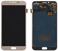 Дисплей + сенсор Samsung J400 J4 Золотий LCD TFT, з регулюванням яскравості