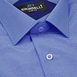 Сорочка чоловіча, приталена (Slim Fit), з коротким рукавом Birindelli в полоску 014000157 80% бавовна 20%, фото 2
