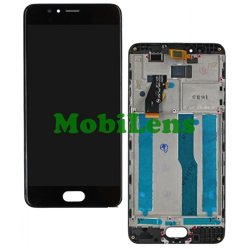 Meizu M5S, M612H Дисплей+тачскрин(модуль) черный *в рамке