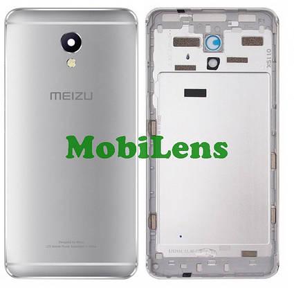 Meizu M5 Note, M621H, M621Q Задняя крышка серебристая, фото 2