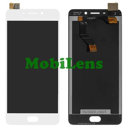 Meizu M6 Note, M721H Дисплей+тачскрин(модуль) белый, фото 2
