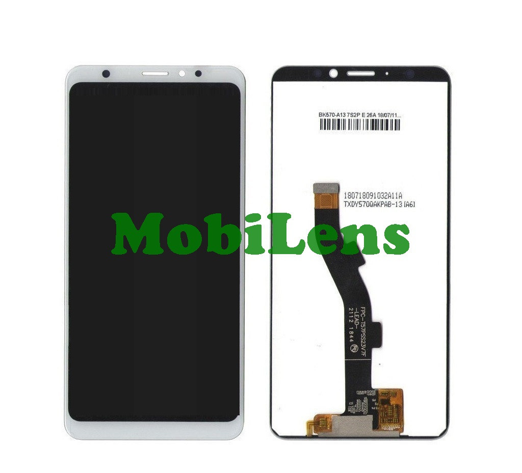Meizu M8, M813H, V8 Pro, шлейф=97мм Дисплей+тачскрін(модуль) білий
