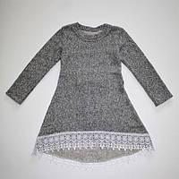 Плаття тепле з мереживом для дівчинки 7-10 років