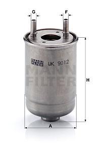 Фильтр топливный MANN RENAULT FLUENCE 1.5 DCI 10-, GRAND SCENIC III 2.0 DCI 09-, MEGANE III 1.5-2.0 DCI 09-,