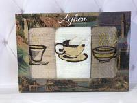 Набор вафельных полотенец Ayben  3в1 кофе 1