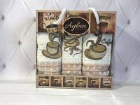Набор вафельных полотенец Ayben 3в1 Кофе беж.