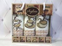Набор вафельных полотенец Ayben  3в1 Ароматный кофе