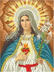 Вишивка бісером Серце Марії