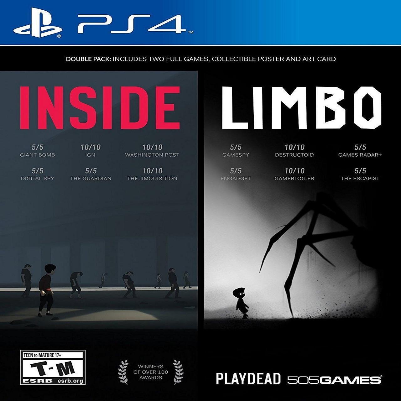 Inside & Limbo Double Pack (русские субтитры) PS4
