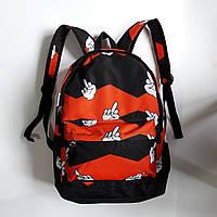 Рюкзак городской спортивный молодежный с принтом Ораньжевый