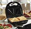 Бутербродниця, вафельниця, горішниця, гриль DOMOTEC MS-7704 (4в1), фото 2
