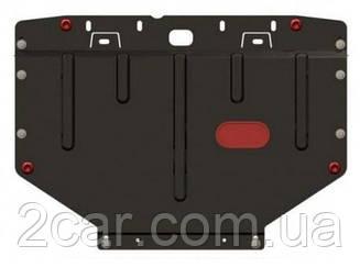 Защита BMW 3серии E36 (1991-2000) (V-все, б/конд.2листа под бампер, двс+кпп, из 2-х частей) (Щит) Двигателя