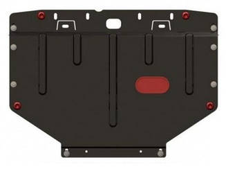 Защита Peugeot 206 (2007-2012) (IRAN, двс+кпп) (Щит) Двигателя картера подона