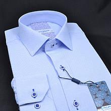 Сорочка чоловіча, приталена (Slim Fit), з довгим рукавом FITMENS/PASHAMEN 00153-03 80% бавовна 20% поліестер