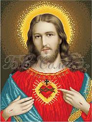 Вишивка бісером Серце Ісуса