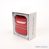 Чехол silicone Airpods 2 Ultra Slim red, фото 2