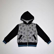 """Куртка """"Абетка"""" двухнитка для хлопчика 3-7 років"""